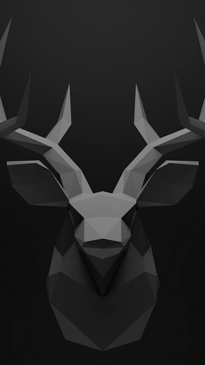 Low Poly Deer Head Wallpaper for SAMSUNG Galaxy S5 Mini