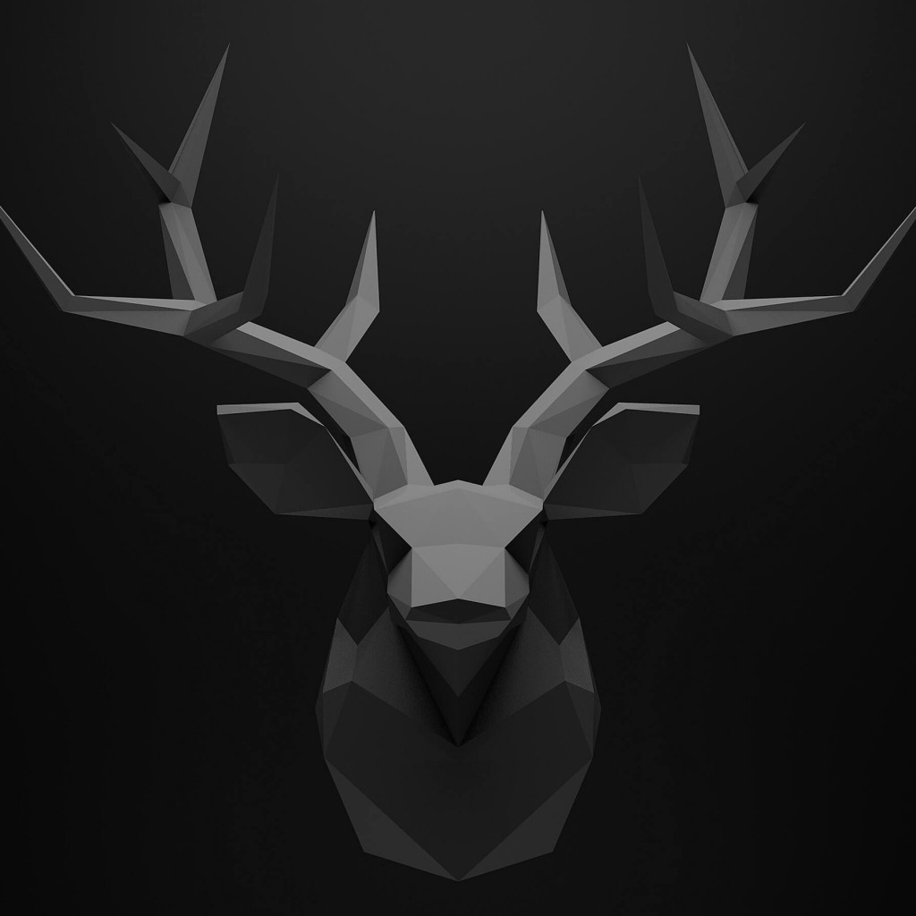 Low Poly Deer Head Wallpaper for Apple iPad
