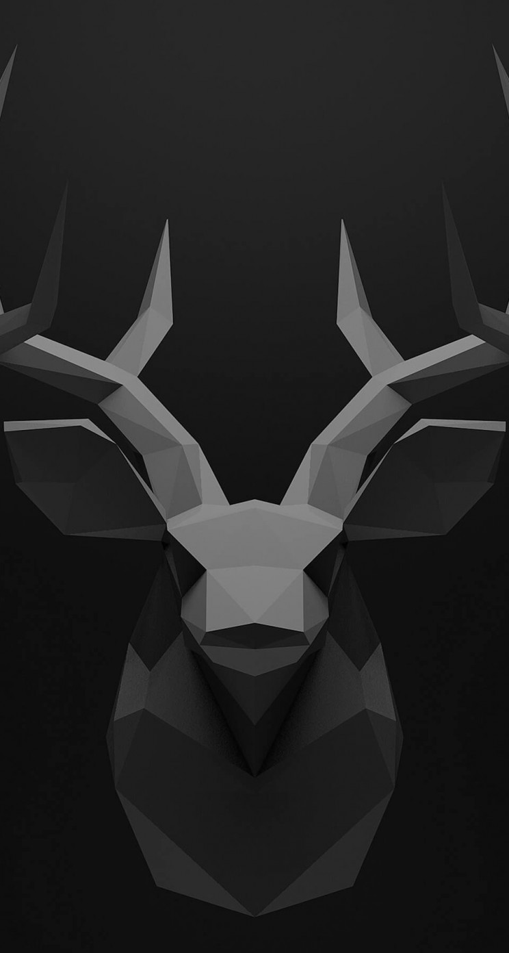 Low Poly Deer Head Wallpaper for Apple iPhone 5 / 5s