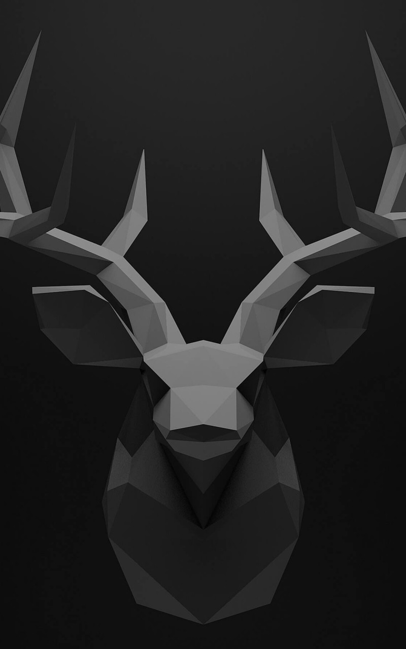 Low Poly Deer Head Wallpaper for Amazon Kindle Fire HD