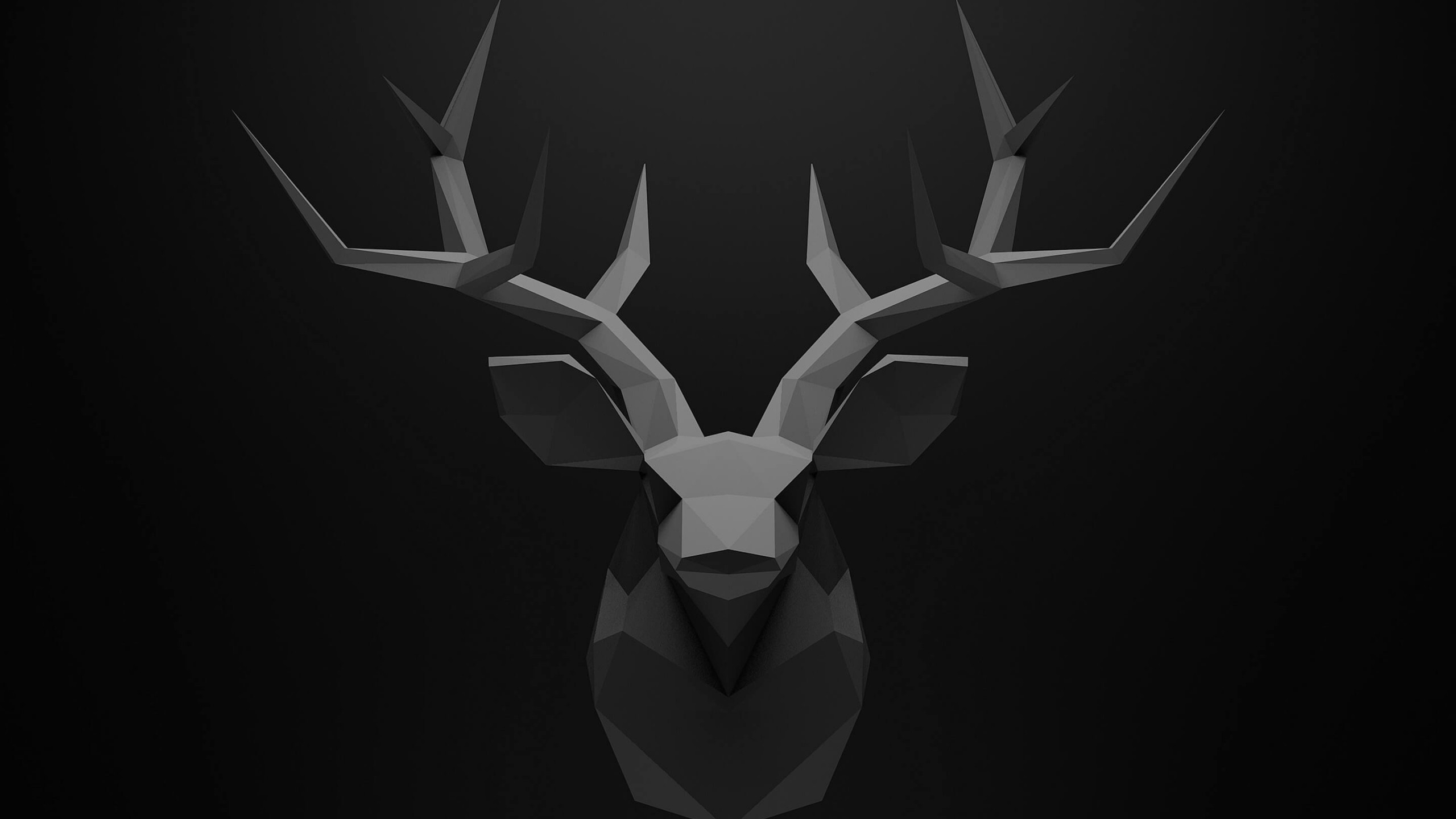 Low Poly Deer Head Wallpaper for Social Media YouTube Channel Art