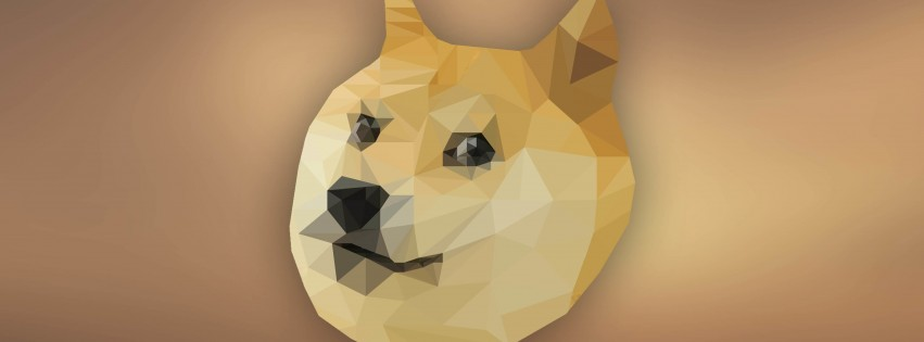 Low Poly Doge Wallpaper for Social Media Facebook Cover