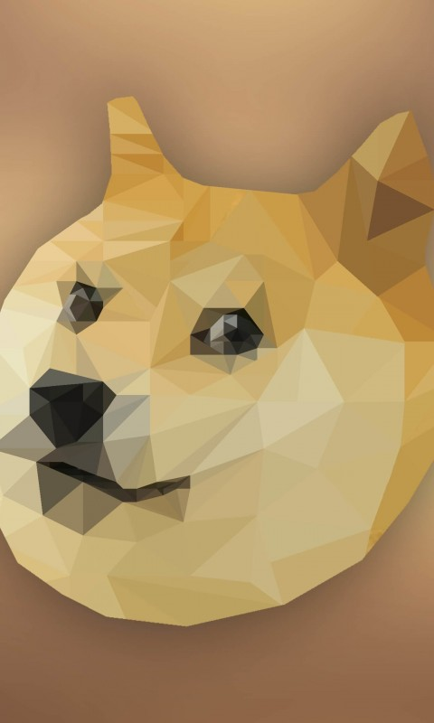 Low Poly Doge Wallpaper for SAMSUNG Galaxy S3 Mini