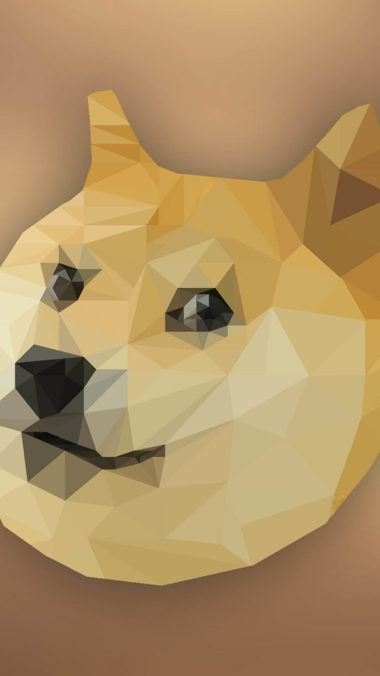 Low Poly Doge Wallpaper for SAMSUNG Galaxy S4 Mini