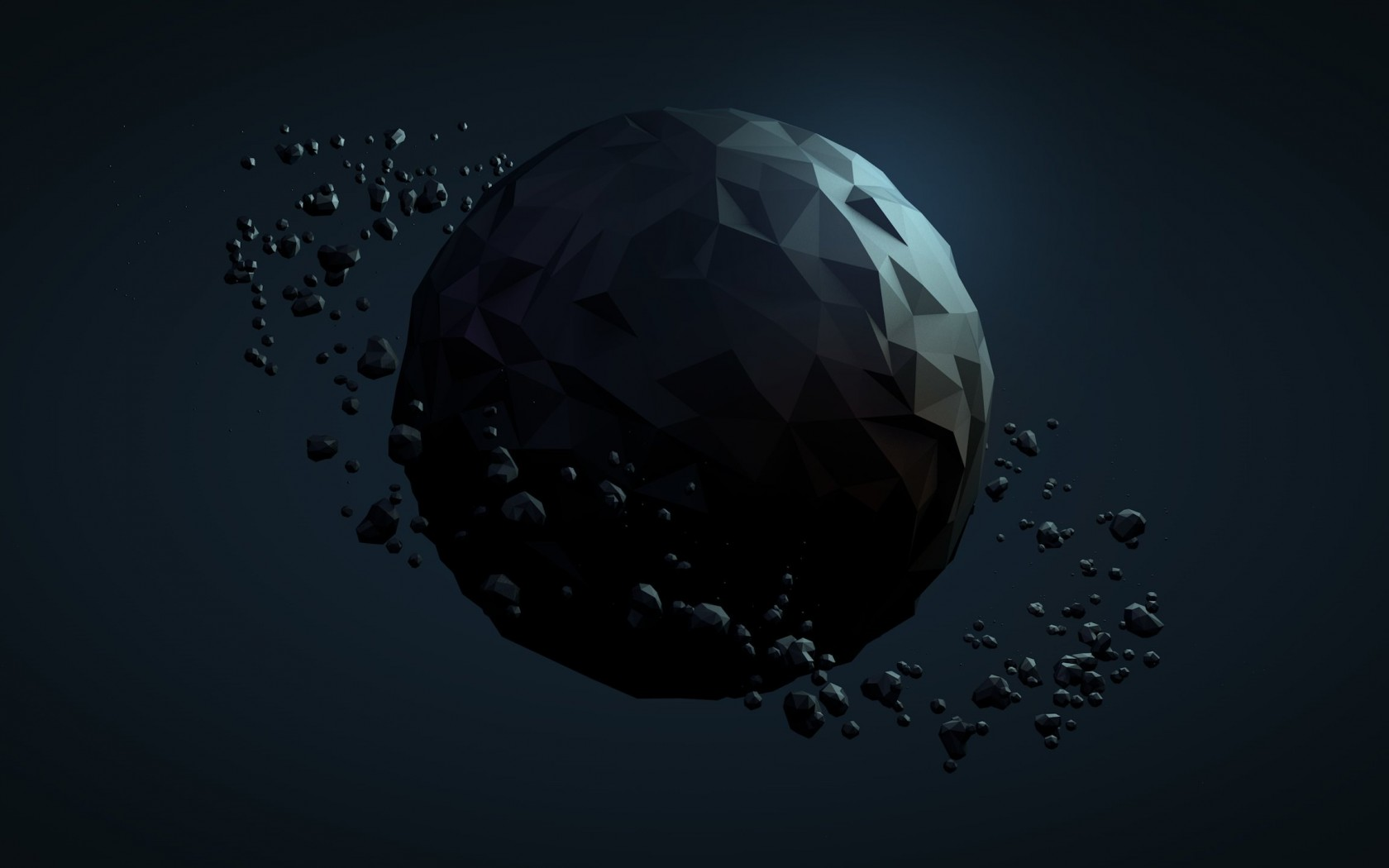 Low Poly Planet Wallpaper for Desktop 1680x1050