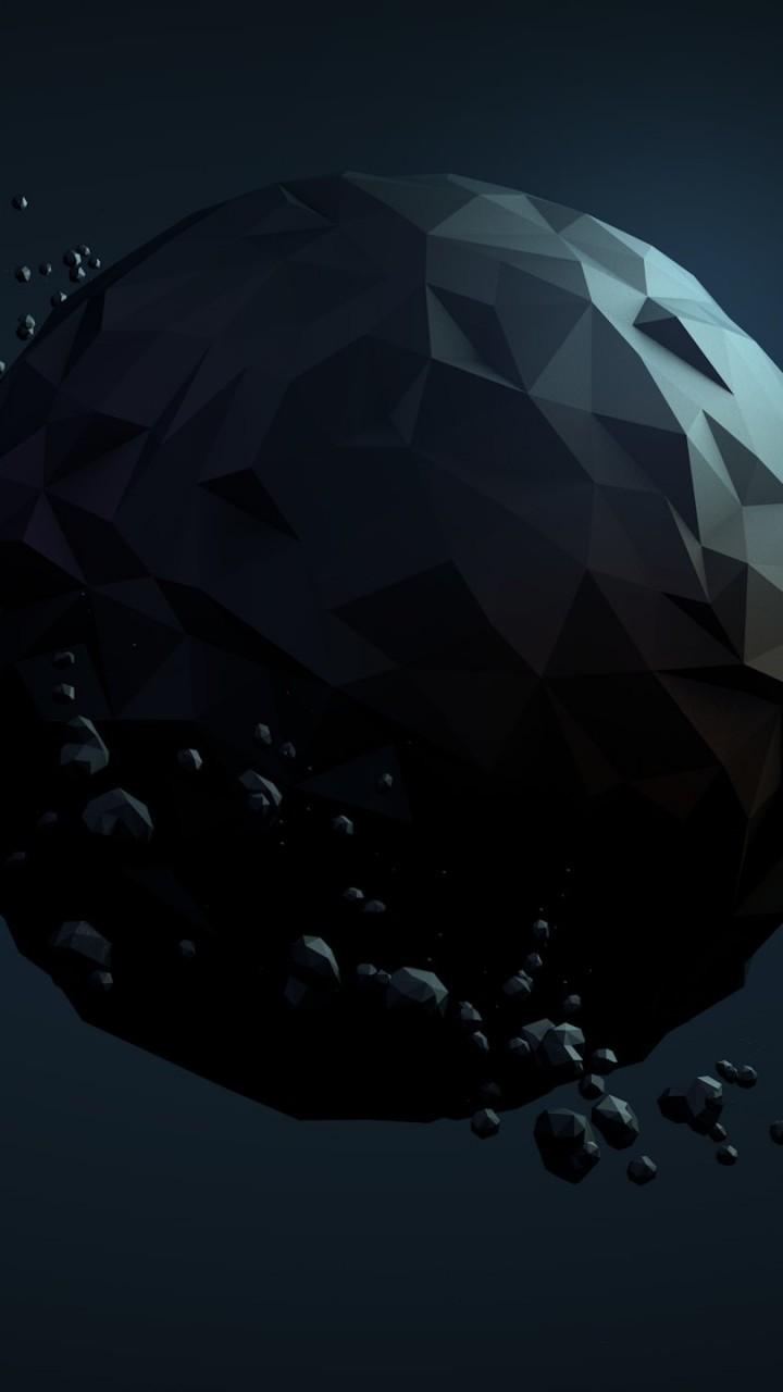 Low Poly Planet Wallpaper for SAMSUNG Galaxy Note 2