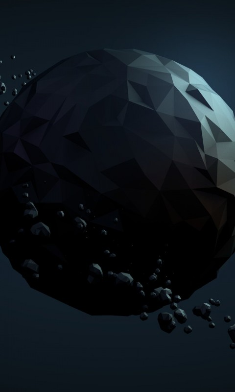 Low Poly Planet Wallpaper for SAMSUNG Galaxy S3 Mini