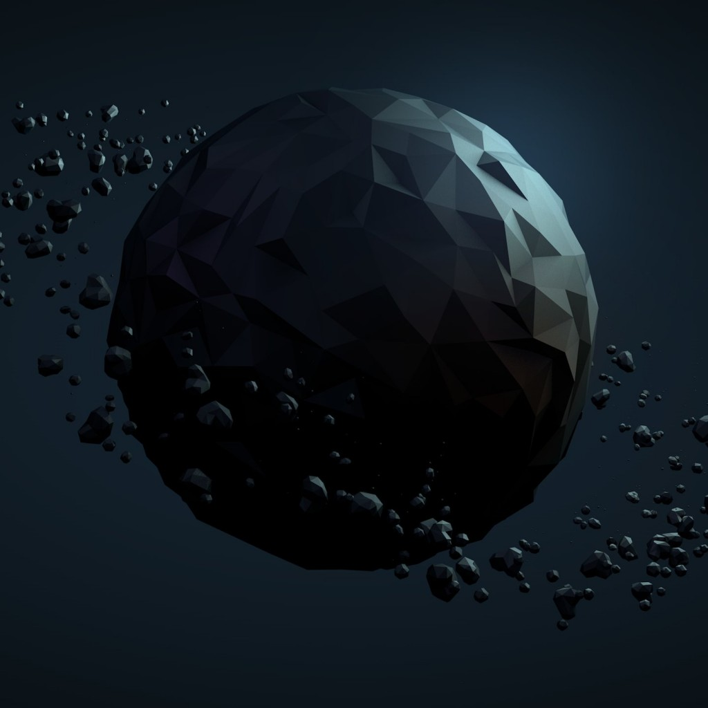 Low Poly Planet Wallpaper for Apple iPad 2