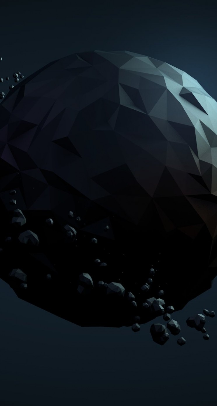 Low Poly Planet Wallpaper for Apple iPhone 5 / 5s