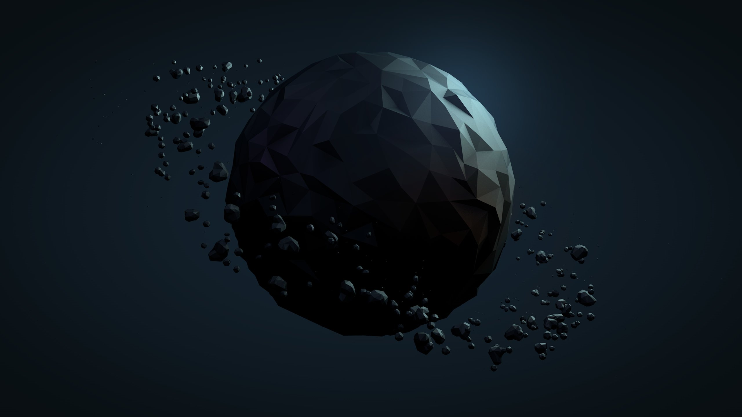 Low Poly Planet Wallpaper for Social Media YouTube Channel Art