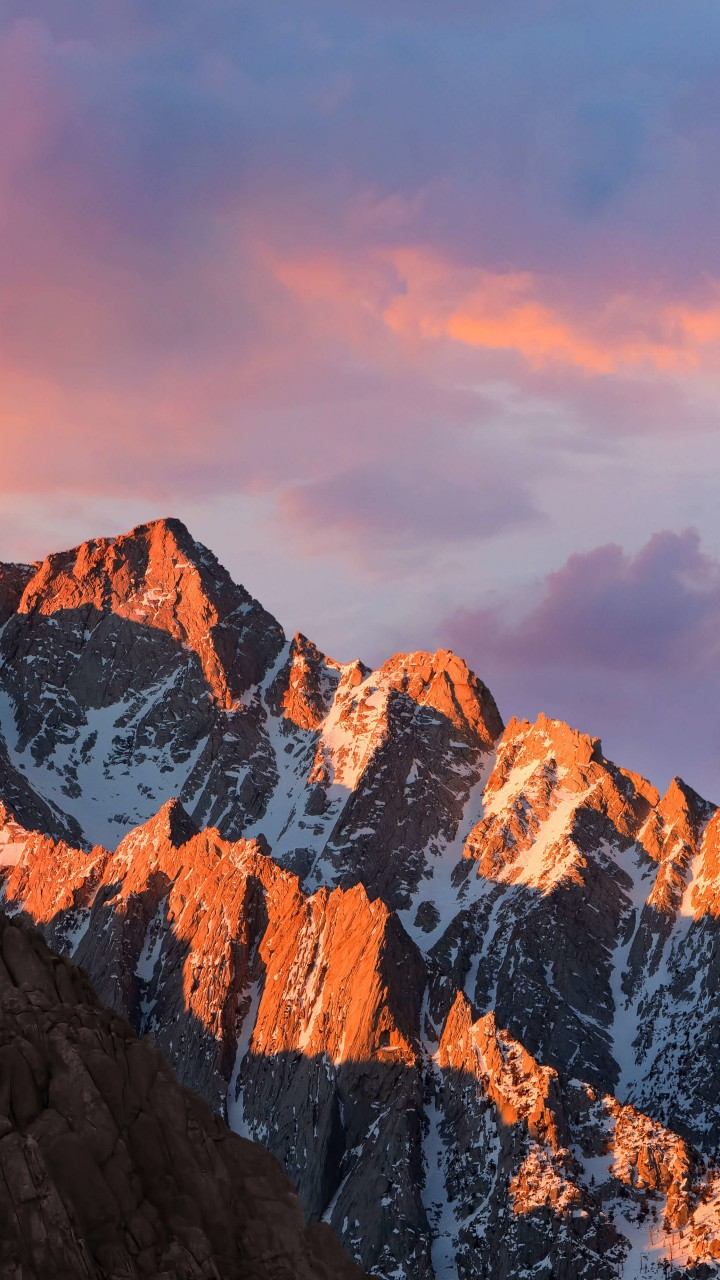macOS Sierra Wallpaper for Motorola Droid Razr HD