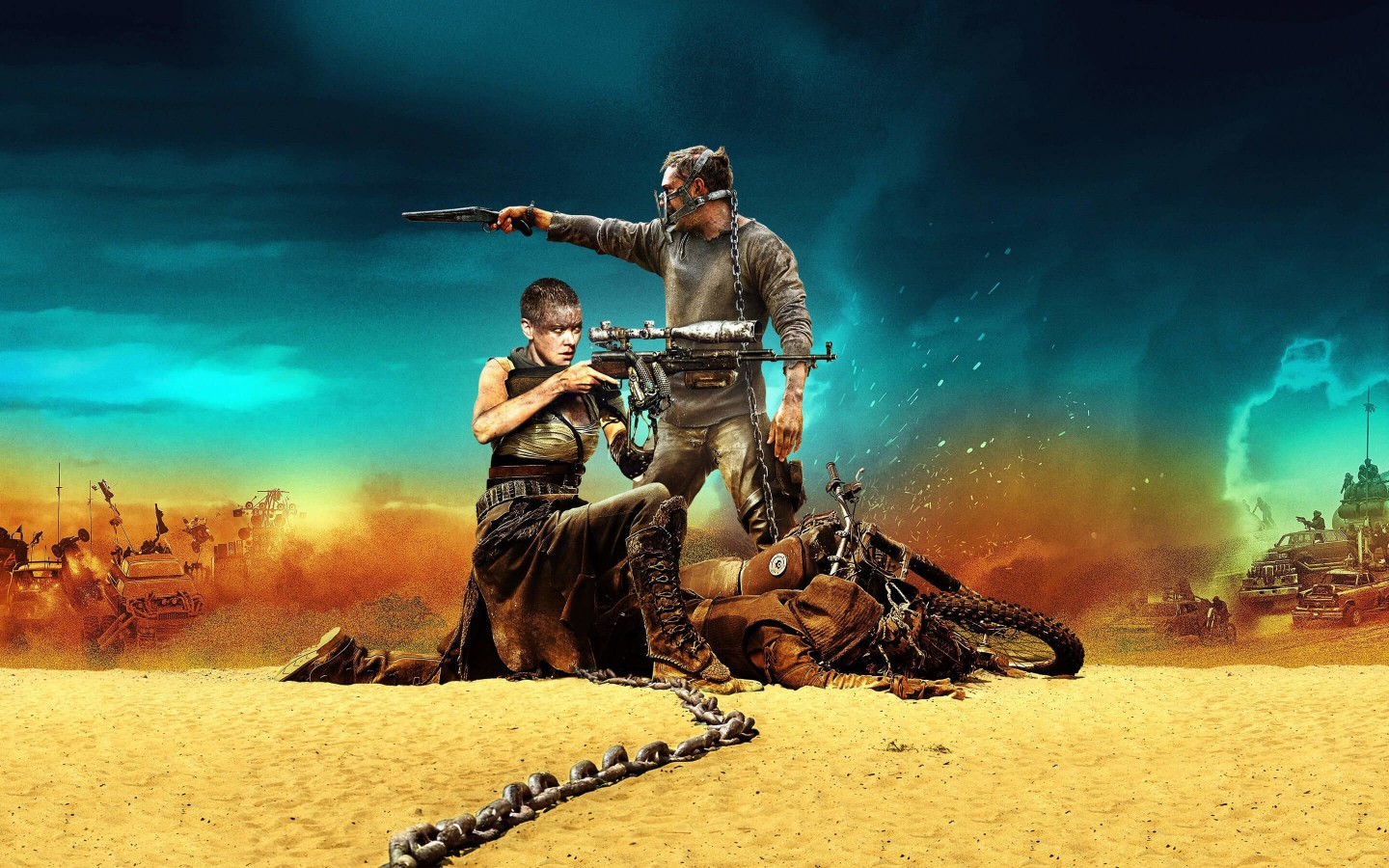 Mad Max: Fury Road Movie (2015) Wallpaper for Desktop 1440x900