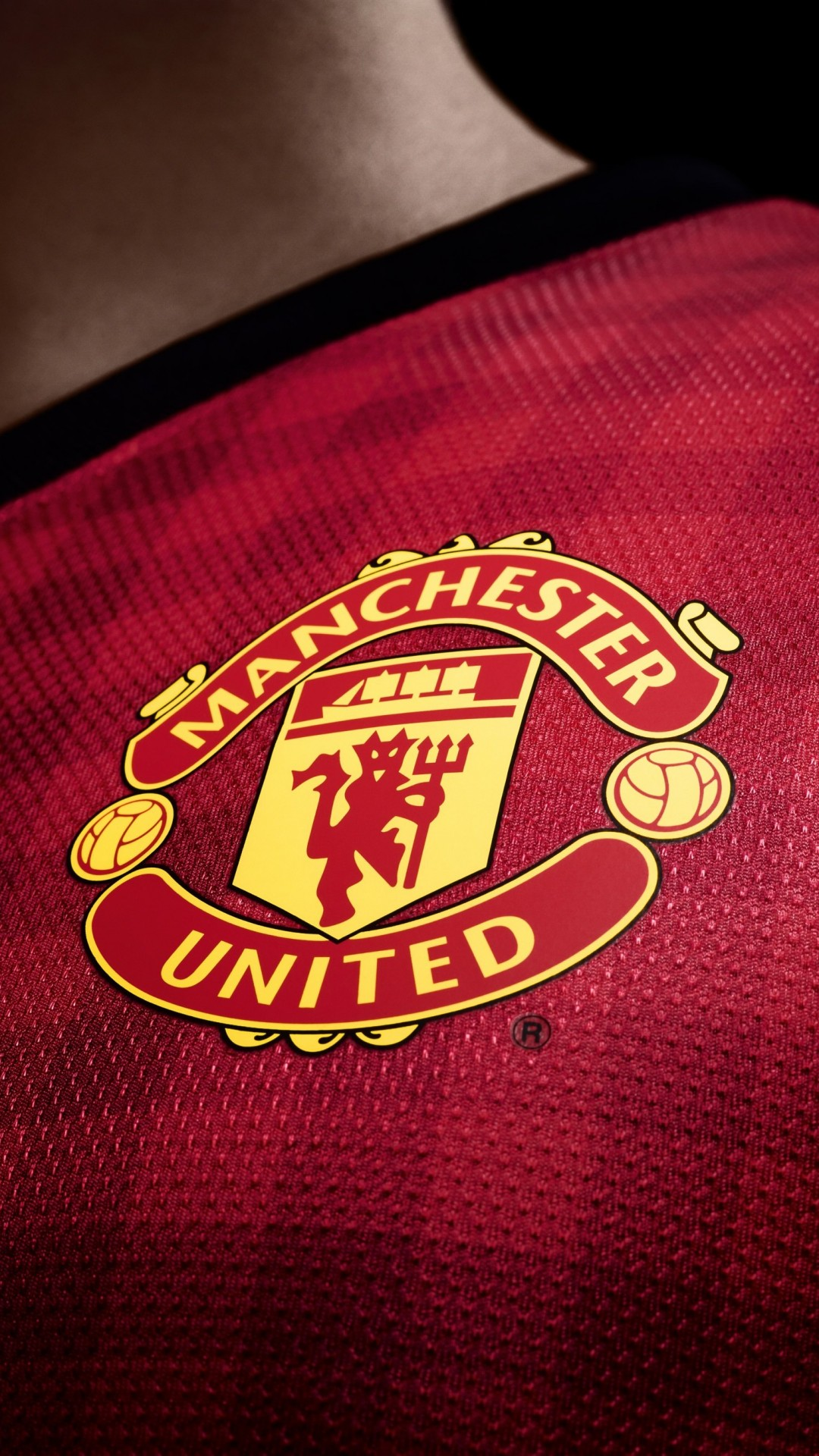Manchester United Logo Shirt Wallpaper for HTC One