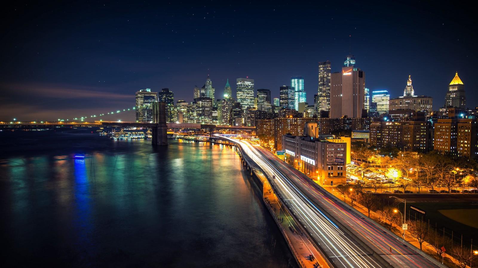 Download Manhattan Starry Night HD wallpaper for 1600 x ...