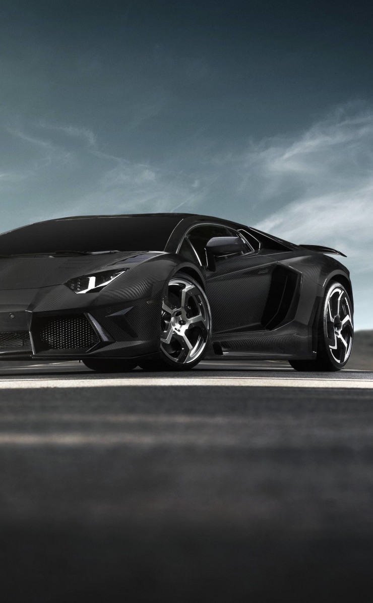 Mansory Carbonado Lamborghini Aventador LP700-4 Wallpaper for Apple iPhone 4 / 4s
