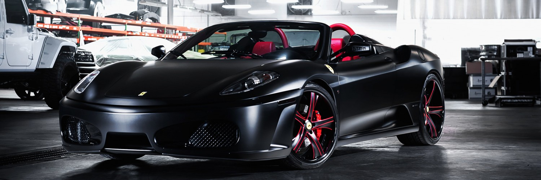 Download Matte Black Ferrari F430 On Savini Wheels Hd