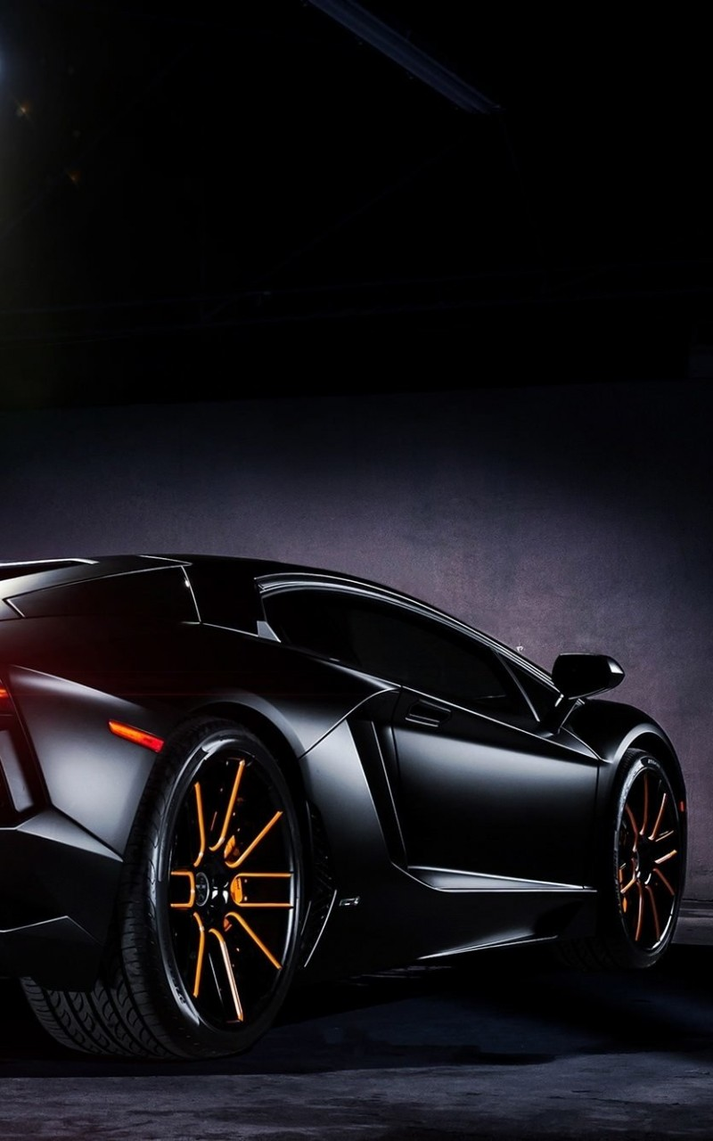 Matte Black Lamborghini Aventador on Vellano wheels Wallpaper for Amazon Kindle Fire HD