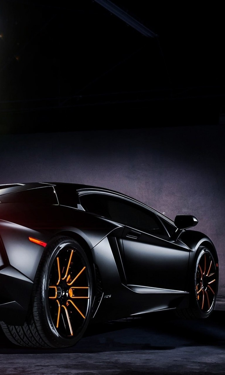 Matte Black Lamborghini Aventador on Vellano wheels Wallpaper for Google Nexus 4