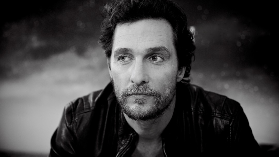 Matthew McConaughey Black & White Portrait Wallpaper for Social Media Google Plus Cover