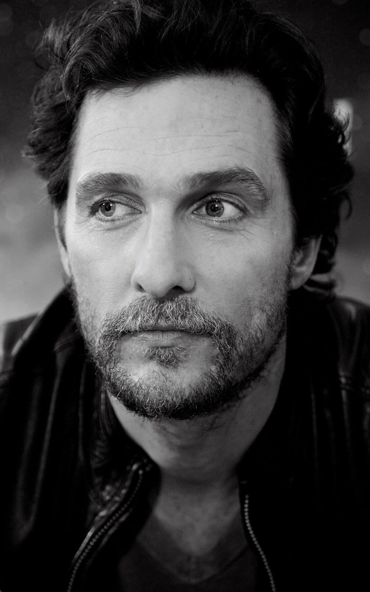 Matthew McConaughey Black & White Portrait Wallpaper for Amazon Kindle Fire HDX