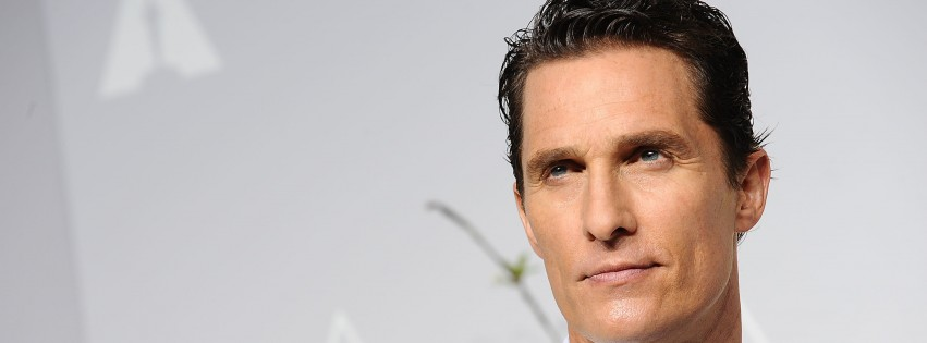 Matthew Mcconaughey in White Tuxedo Wallpaper for Social Media Facebook Cover