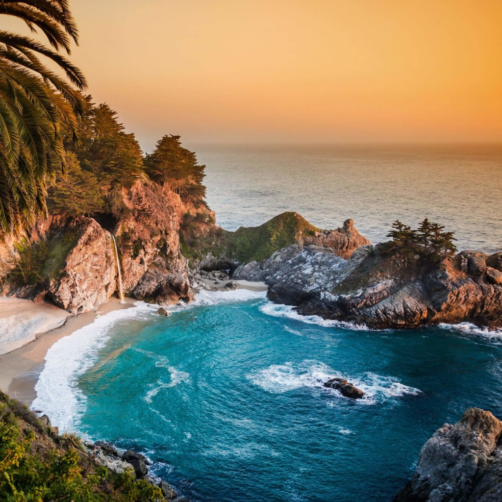 McWay Falls in Big Sur, California, USA Wallpaper for Apple iPad