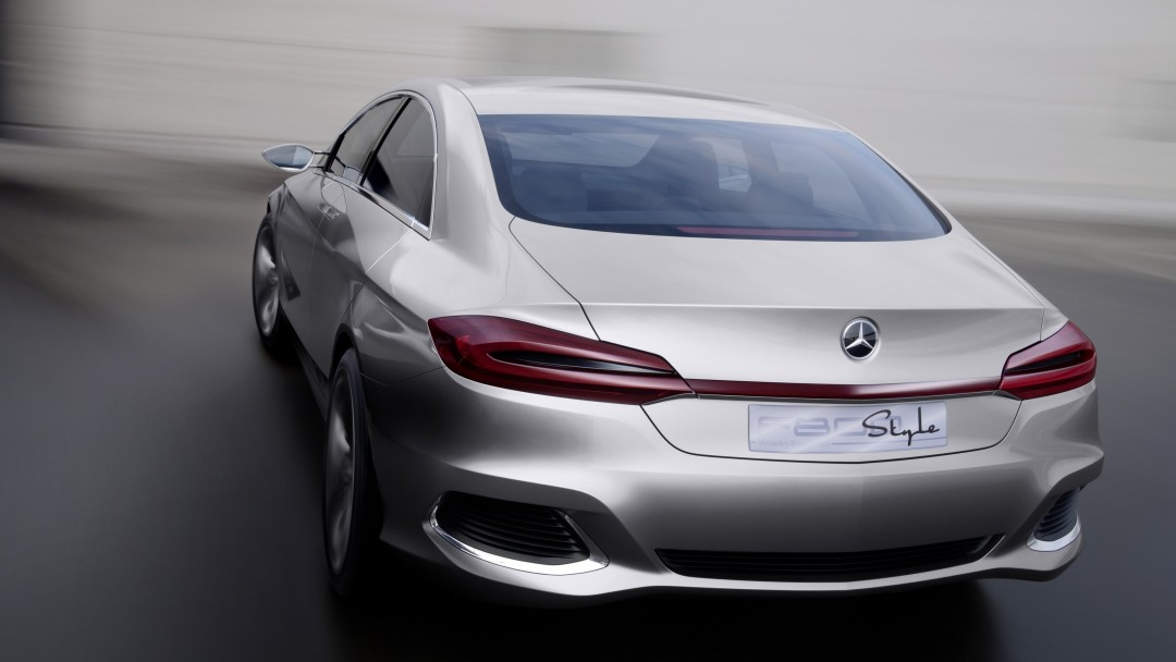 Mercedes Benz F800 Concept Rear View Wallpaper for Social Media Google Plus Cover