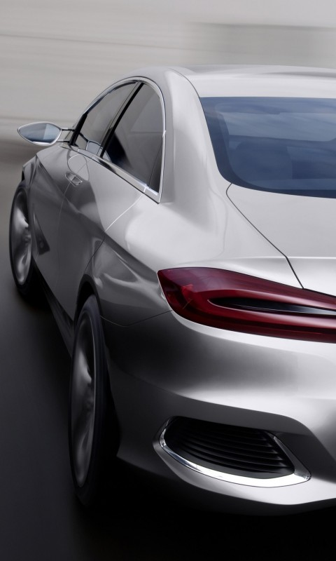Mercedes Benz F800 Concept Rear View Wallpaper for HTC Desire HD