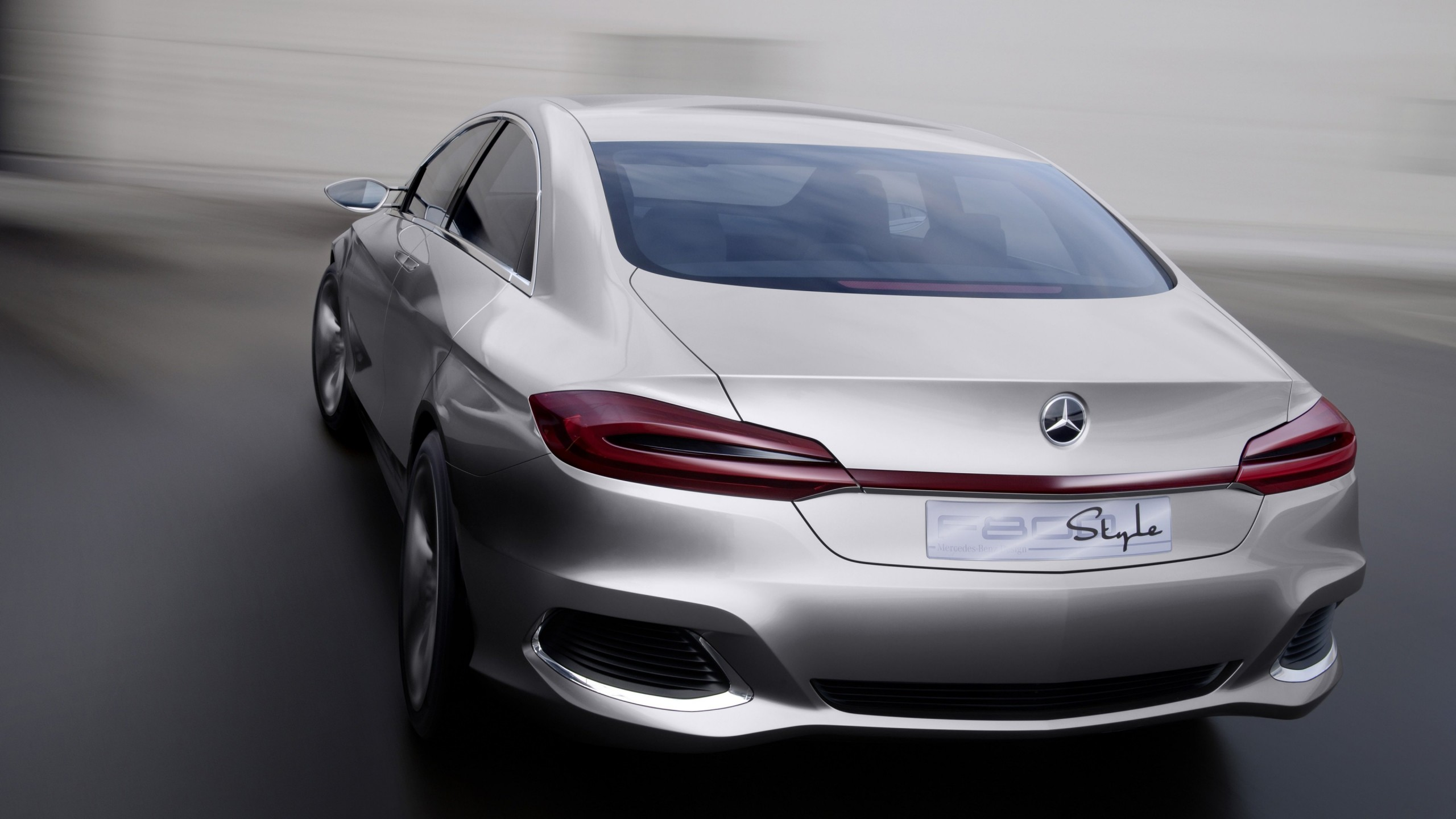 Mercedes Benz F800 Concept Rear View Wallpaper for Social Media YouTube Channel Art