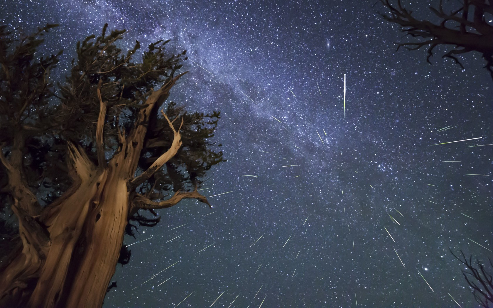 Meteor Shower Wallpaper for Desktop 1680x1050