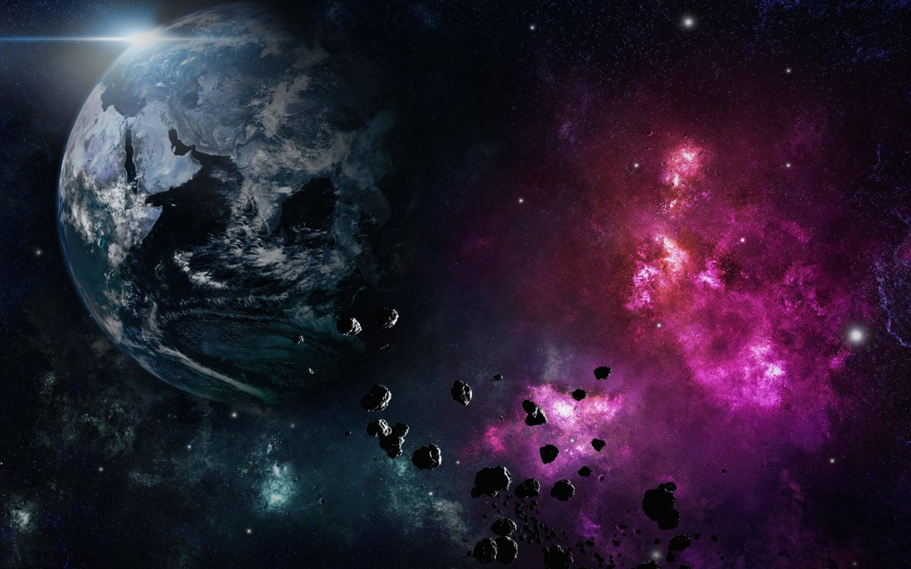 Meteors Moving in The Direction of Earth Wallpaper for Desktop 1280x800