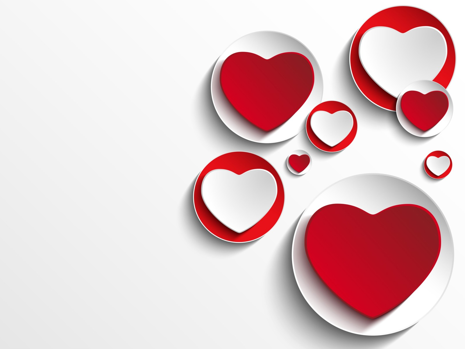 Minimalistic Hearts Shapes HD wallpaper for 1600x1200 ...