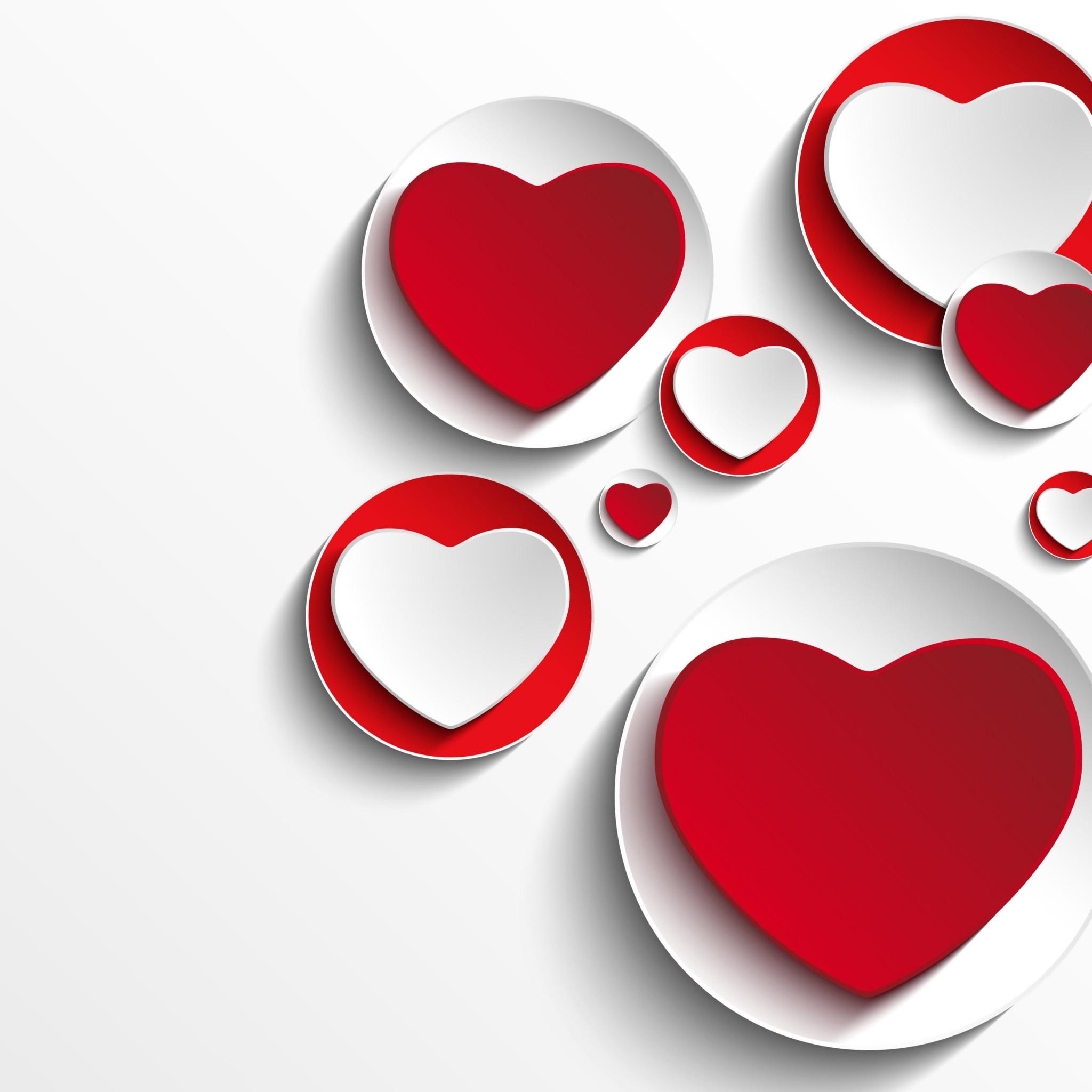 Minimalistic Hearts Shapes Hd Wallpaper For Nexus 9