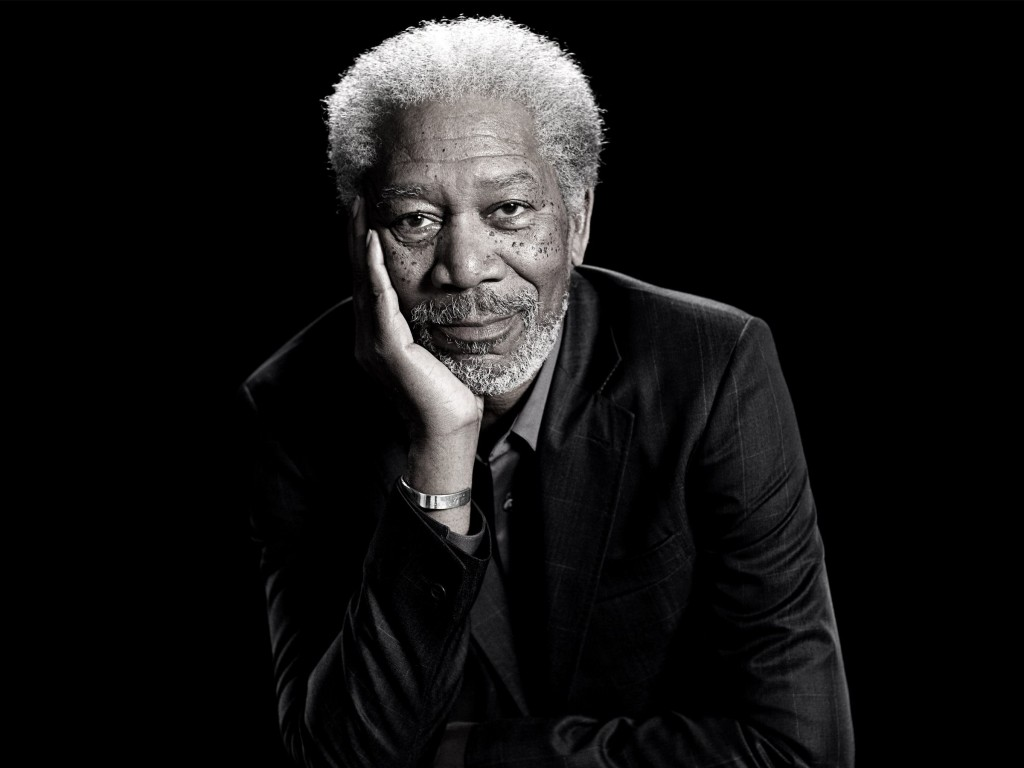 Morgan Freeman Portrait Wallpaper for Desktop 1024x768