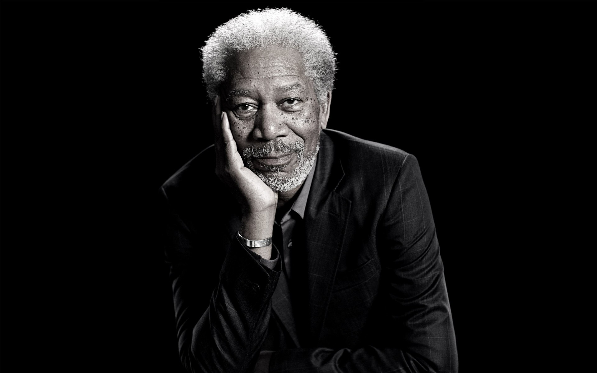 Morgan Freeman Portrait Wallpaper for Desktop 1920x1200