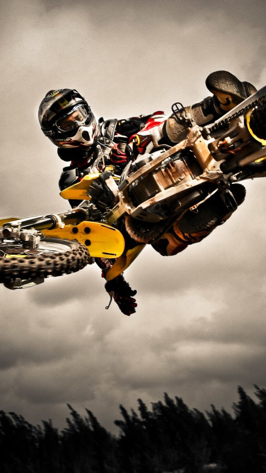 Motocross Jump Wallpaper for Motorola Moto E