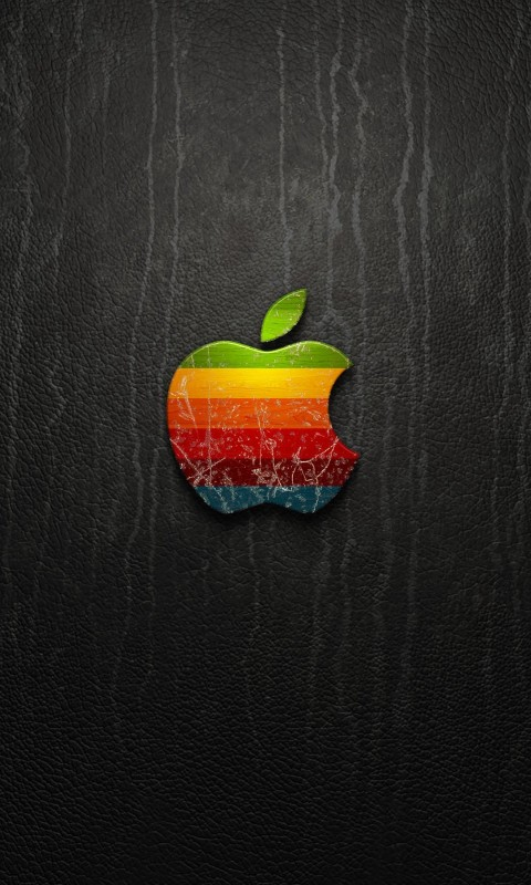 Multicolored Apple Logo Wallpaper for HTC Desire HD