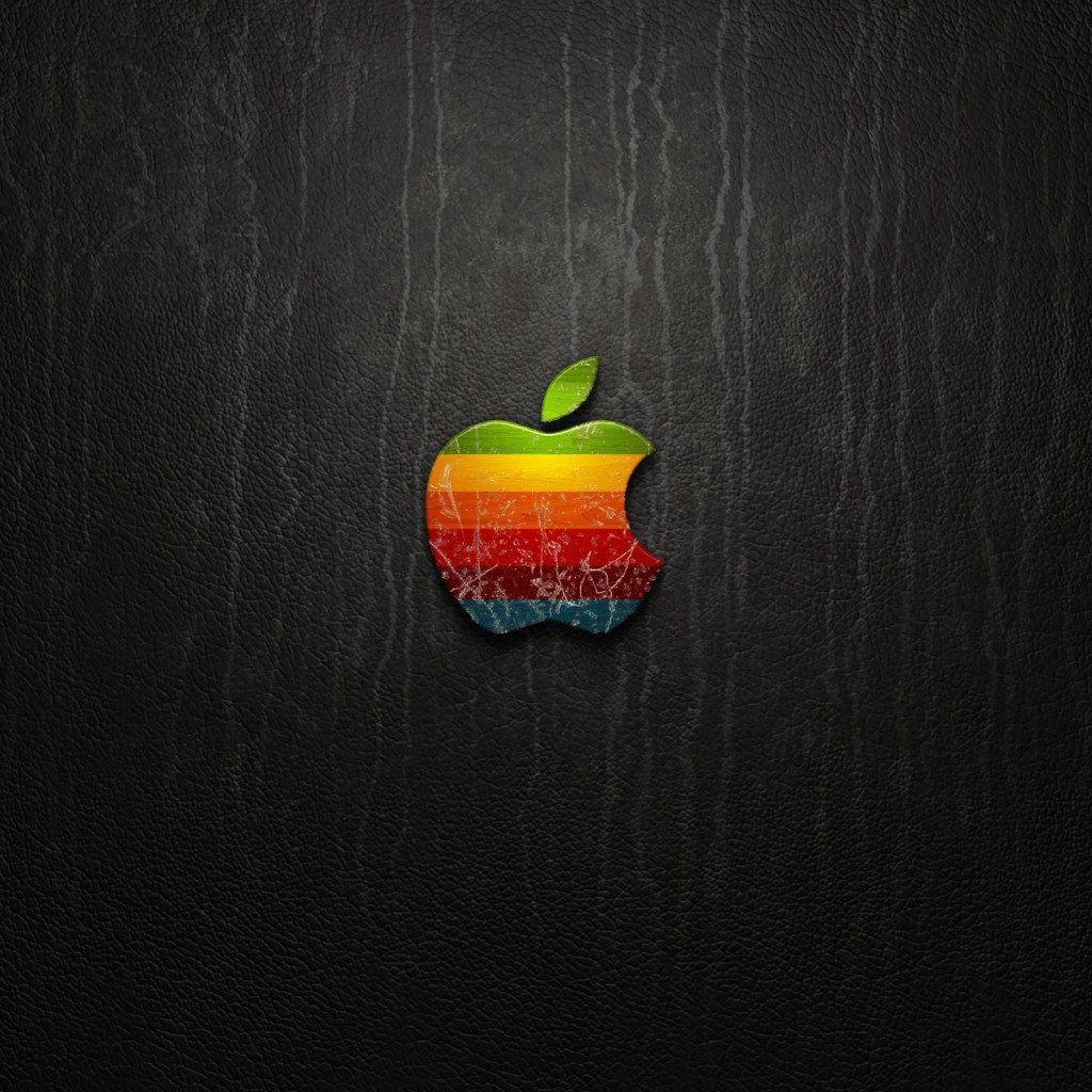 Multicolored Apple Logo Wallpaper for Apple iPad