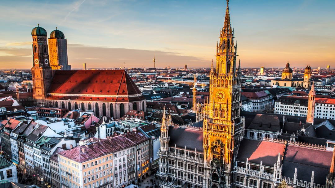 Munich Skyline Wallpaper for Social Media Google Plus Cover