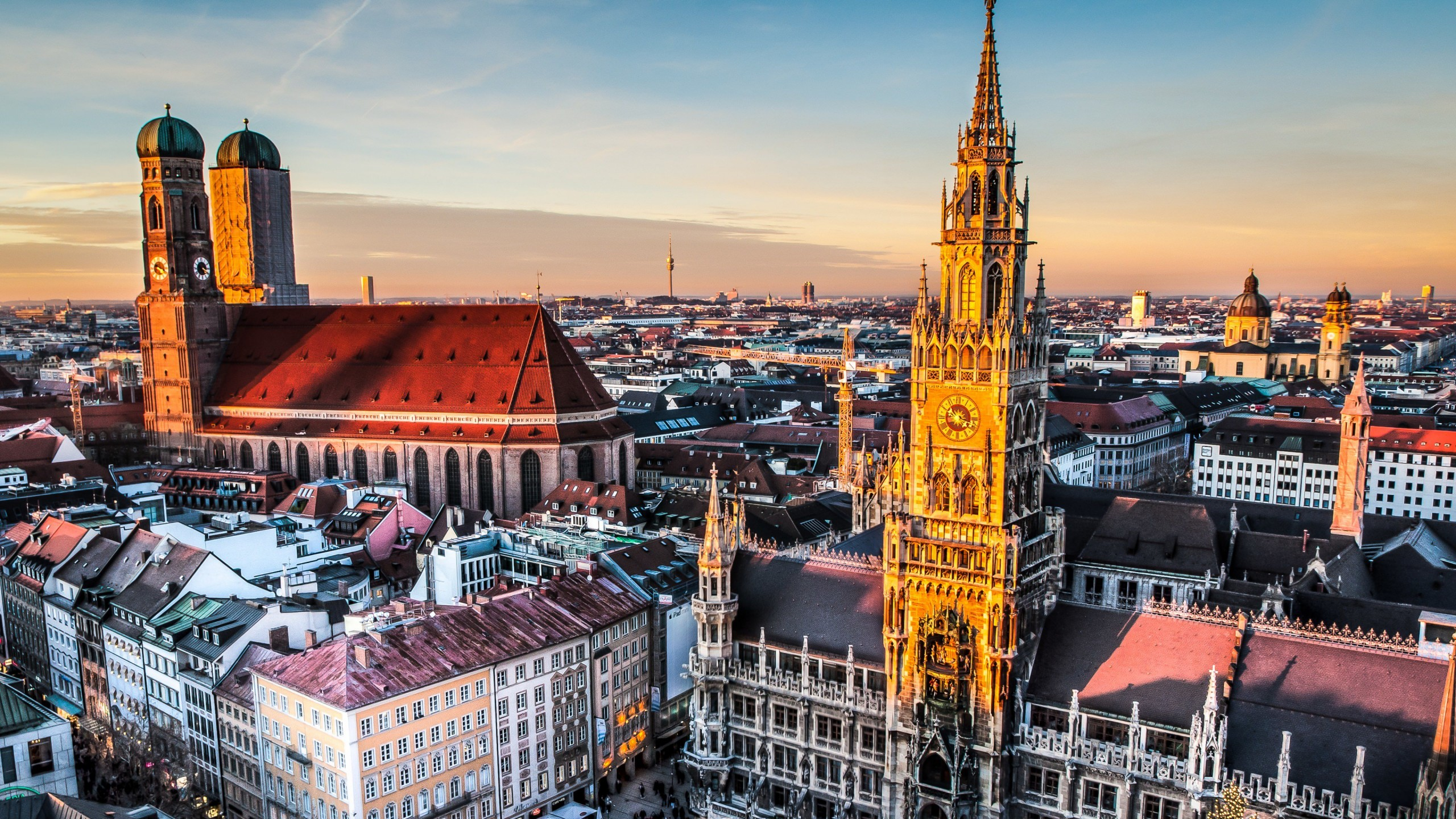 Munich Skyline Wallpaper for Social Media YouTube Channel Art