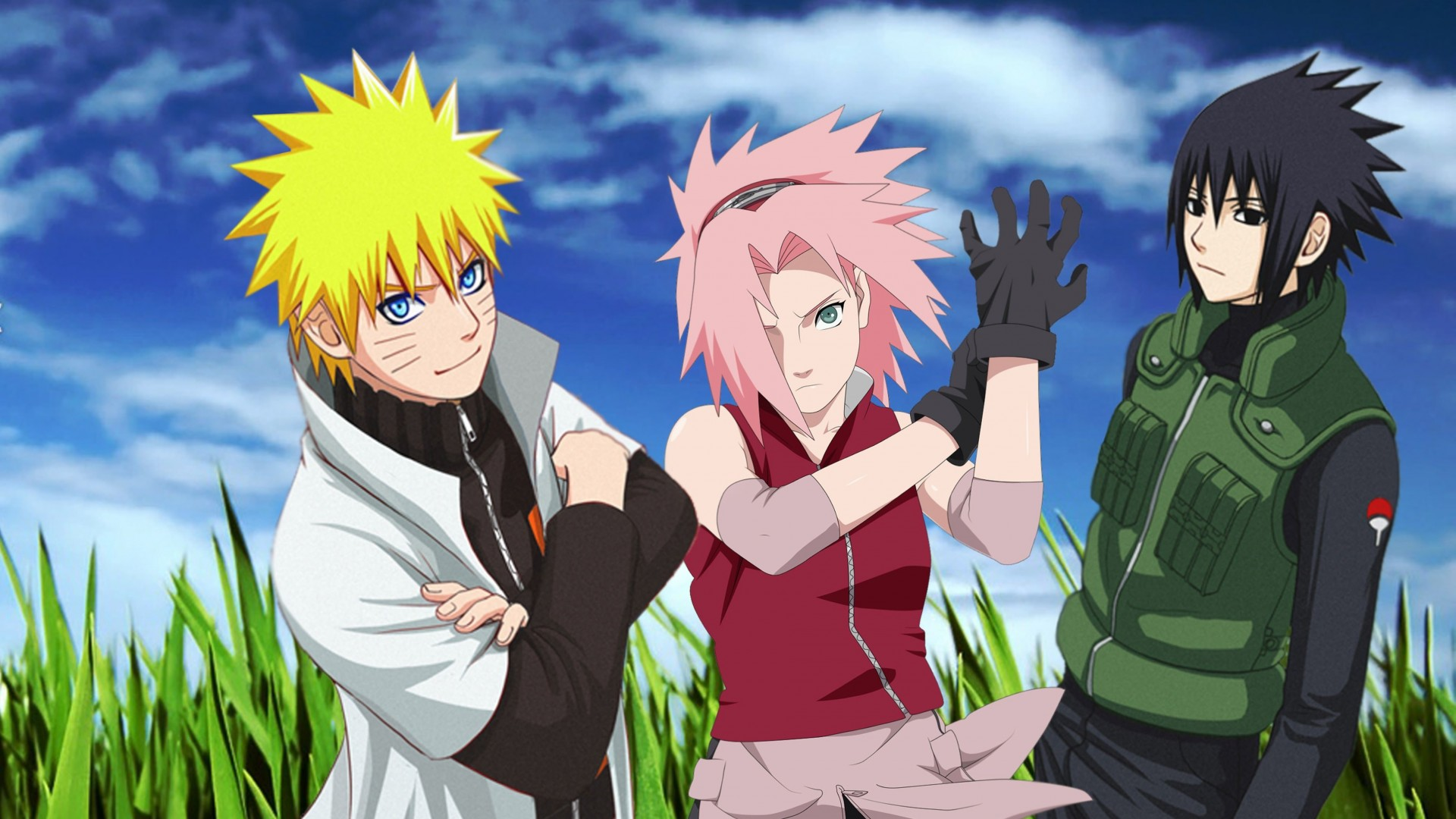 Naruto, Sakura and Sasuke Wallpaper for Desktop 1920x1080