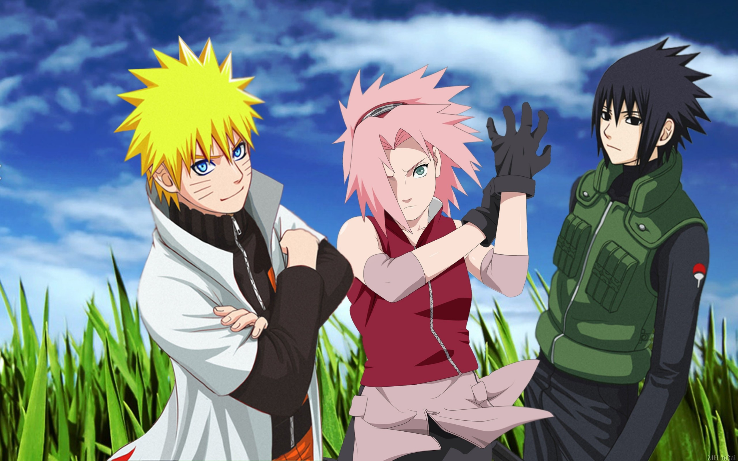 Naruto, Sakura and Sasuke Wallpaper for Desktop 2560x1600