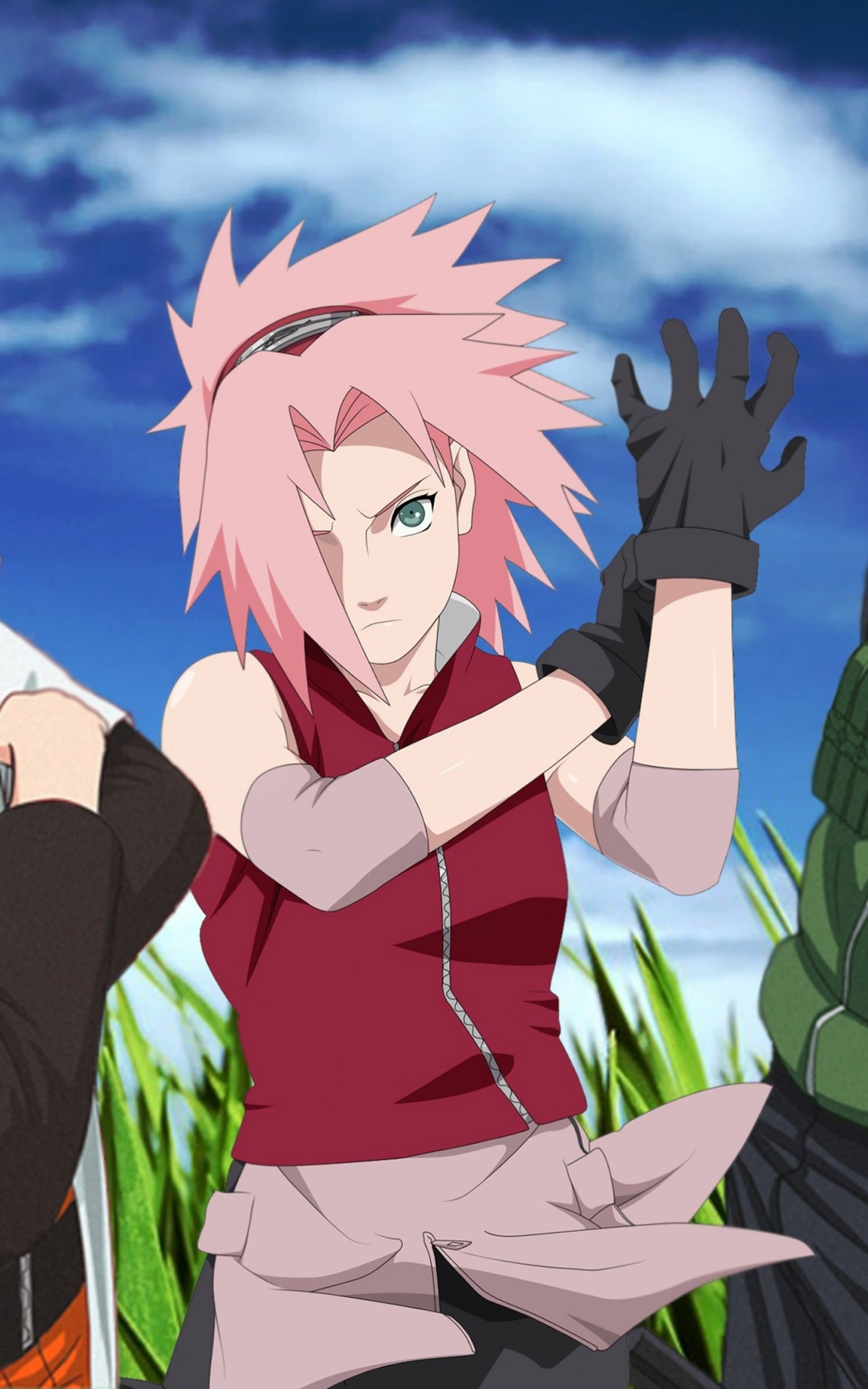 Naruto, Sakura and Sasuke Wallpaper for Amazon Kindle Fire HDX