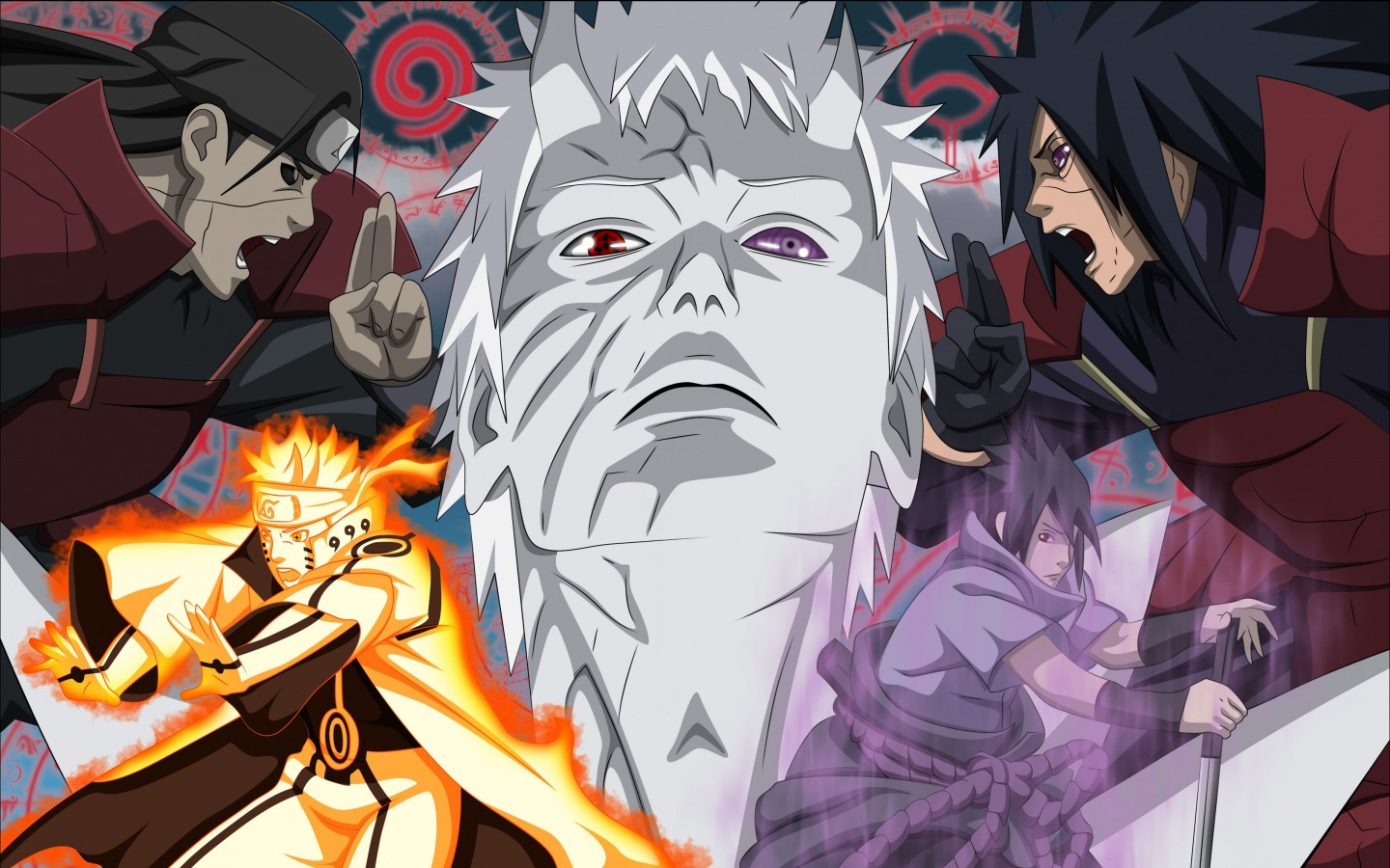 Naruto Vs. Madara Uchiha Wallpaper for Desktop 1440x900