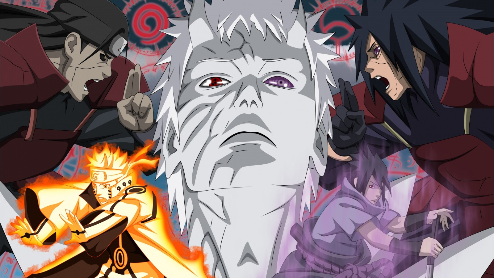 Naruto Vs. Madara Uchiha Wallpaper for Desktop 1600x900