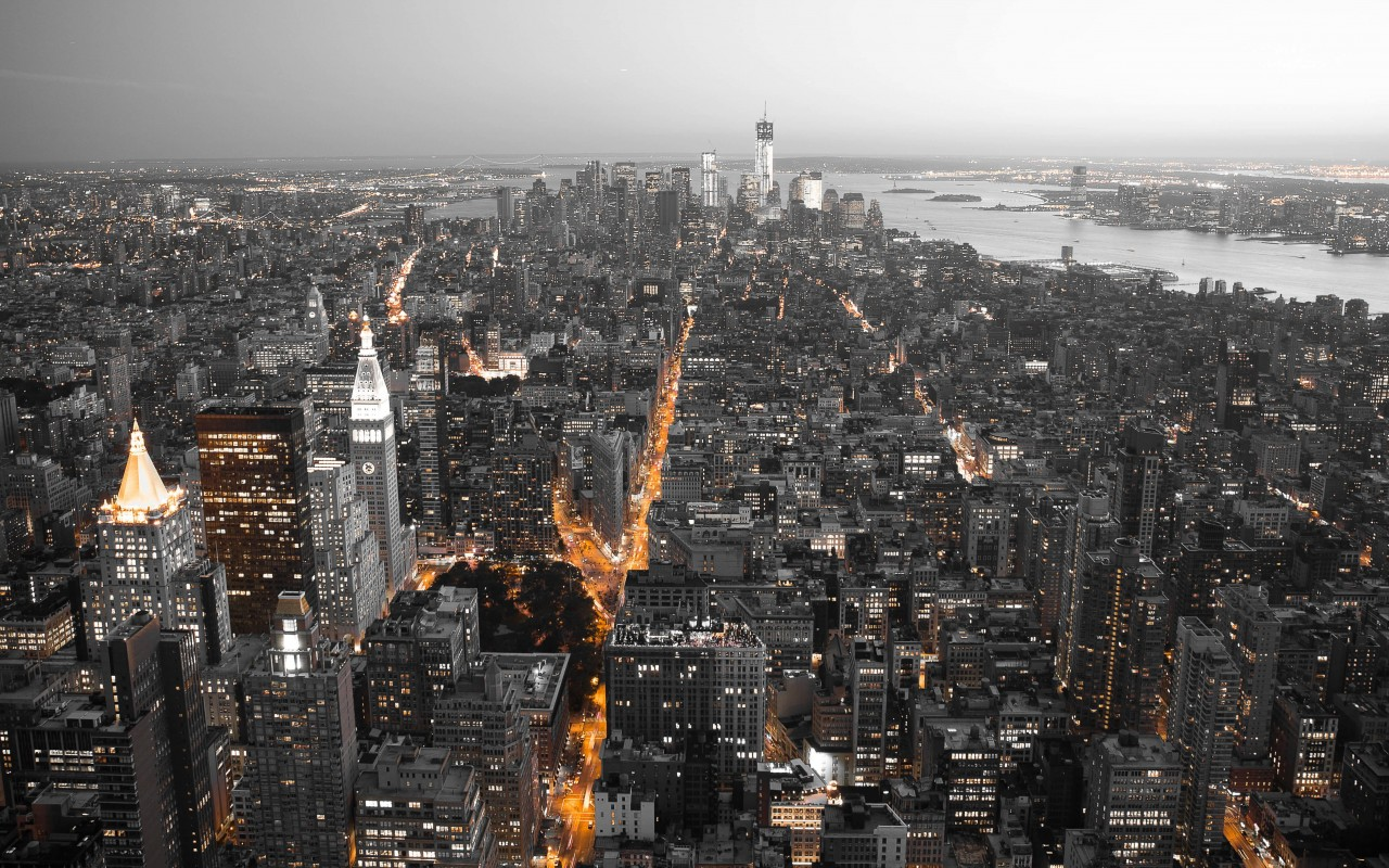 New York City by Night Wallpaper for Desktop 1280x800