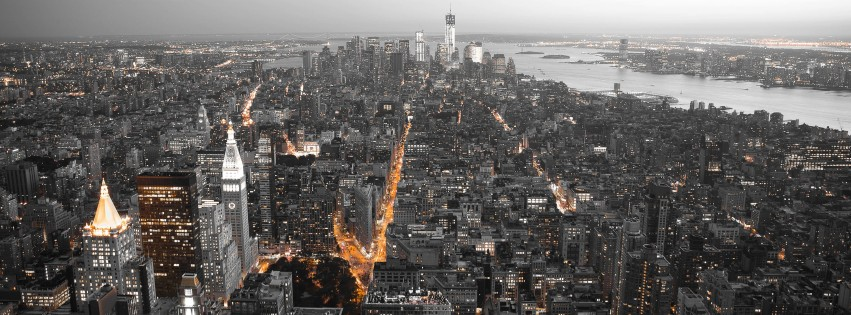 New York City by Night Wallpaper for Social Media Facebook Cover