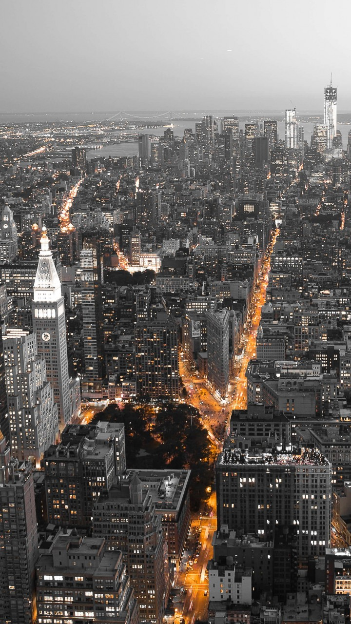 New York City by Night Wallpaper for Motorola Moto G