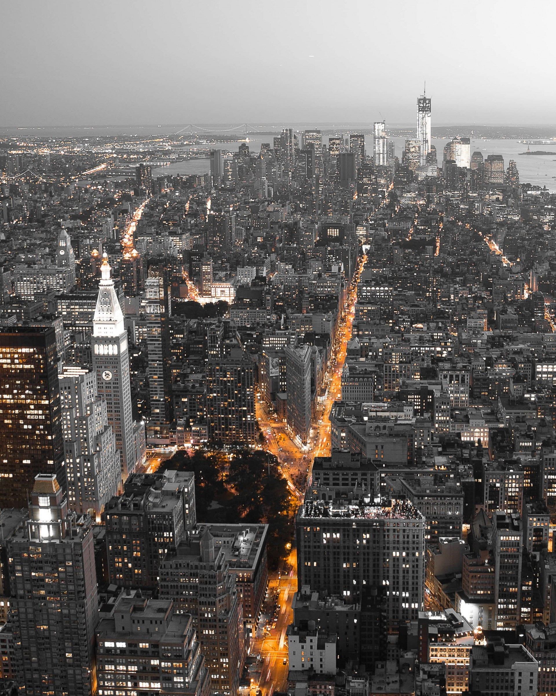 New York City by Night Wallpaper for Google Nexus 7