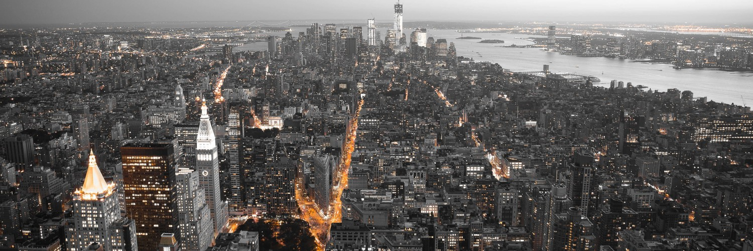 New York City by Night Wallpaper for Social Media Twitter Header